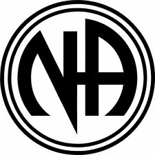 A Narcotics Anonymous or NA decals or stickers vinyl cut. Recovery or Sobriety