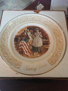 Avon Betsy Ross Plate Enoch Wedgwood England Patriot Vintage 1973