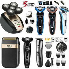 Rotary Electric Shaver Rechargeable Bald Head Shaver Beard Trimmer 3/4/5 in 1