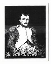 BERNHARD KUHLMANN: Exlibris für Silke Geitel, Napoleon