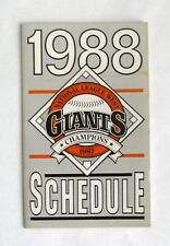 1988 SAN FRANCISCO GIANTS POCKET SCHEDULE