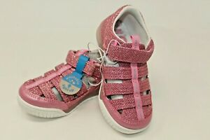 Surprize by Stride Rite Size 8 Toddler Light Up Pink Glitter Fisherman Sandals