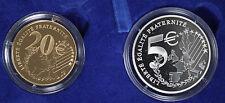 2002 France Monnaie De Paris - Bye-Bye Le Franc!  2 Coin Set Gold and Silver!!