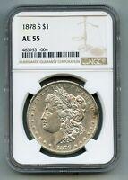 1878 S Morgan Silver Dollar NGC AU 55