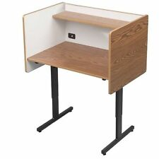 NEW BALT 89788 Study Carrel Laminate Desk Oak White