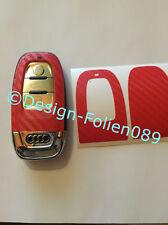Carbonio Rosso Pellicola Decorazione Chiave Audi 8K A3 4G RSQ7 8PA4 S4 A5 8T A6