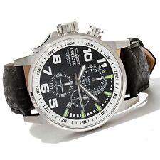 13053 Invicta 46mm I Force Lefty Quartz Chronograph Black Leather Strap Watch