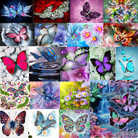 5D DIY Diamant Peinture Papillon Broderie Maison Décor Croix Artisanat Point Kit