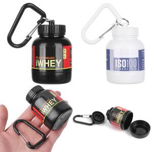 Mini Portable Protein Supplement Powder Bottle Funnel Keychain Compact Bottle//