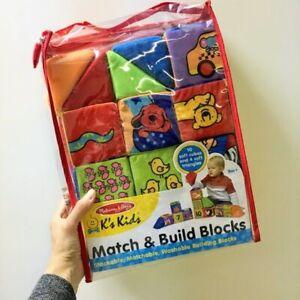 Melissa & Doug K's Kids ''Match & Build' Soft Washable Building Blocks