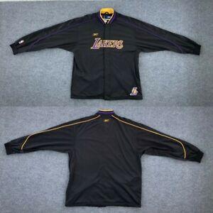 NBA Los Angeles Lakers Adidas Reebok Jacket Black Mans Size L Kobe