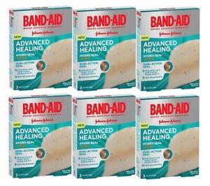 6 x Band-Aid Advanced Healing Hydro Seal Jumbo 3 Hydrocolloid Gel Plaster