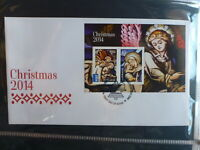 AUSTRALIA 2014 CHRISTMAS 2 STAMP MINI SHEET FDC FIRST DAY COVER