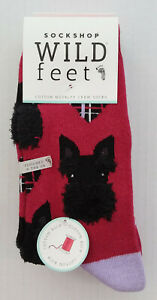 Wild Feet, 3 Pairs, Schnauzer, Crew Socks, Size 4-8, 37-42 EUR,  New