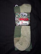 1 PAIR SOCKS X LARGE WINTER COLD WEATHER MADE USA SKILCRAFT NANOOK GREEN GRAY XL