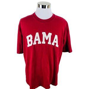 "Alabama Crimson Tide Maroon ""BAMA"" Short Sleeve T-Shirt Men's XL X-Large"