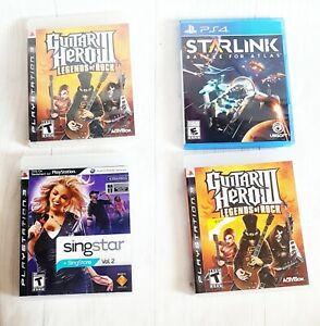LOT OF 4 SingStar Vol. 2 (Sony PlayStation 3, 2008) Starlink ps4 Guitar Hero Ps3