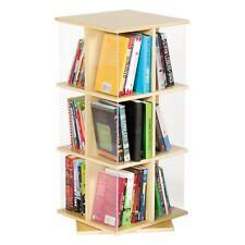 3 Tier Rotating Book Display Bookshelf Space-Saver Storage Home Classroom Unit