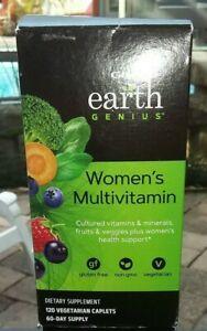 GNC Earth Genius Women's Multivitamin 60 Vegetarian Caplets 08/2020 New Sealed!