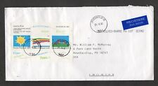Finland #871, children stamp souvenir sheet On Airmail Cover, Wilkes-Barre, 1992