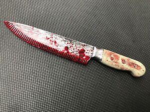 Fake Knife Realistic Plastic Bloody Weapon Blade Halloween Fancy Dress 30cm
