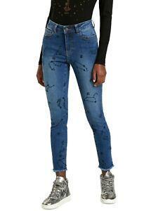 Desigual Damen Skinny Jeans Gr.44 / HW21 / 21WWDD34 - DENIM_AUSTRAL