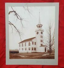 Antique Photo Nashua,New Hampshire Albumen Photo of Church