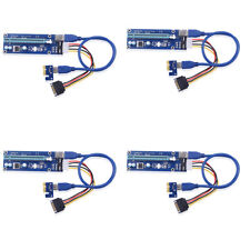 4X USB 3.0 PCI E Express 1x To 16x Extender Riser Kable Karte Graphic Gute