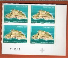 2012 - ADHESIF- 4 TIMBRES - COIN DATE - Chateau D'If - STAMP - Yt.722a