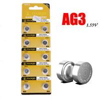 10 Pack LR41 SR41 AG3 384 392A 192 LR736 1.5V Alkaline Battery for Watch Remote