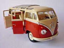 VW Camper Van Bus 17cm 1/24 Scale Toy Model Orange Cream Boys Girl Boxed Present