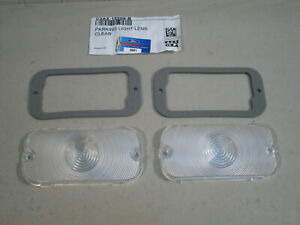 NEW 1961-1964 FORD GALAXIE, 500 XL, STARLINER CLEAR PARKING LIGHT LENSES