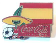 1984 Coca Cola Soda Soccer World Cup Spain Enamel Pin