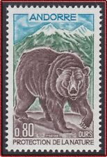 1971 ANDORRE N°210** Ours , French Andorra Bear, MNH