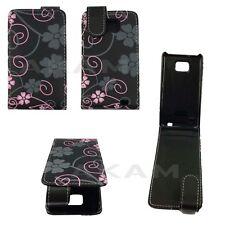 Cuir pu magnétique haut floral flip case cover étui pour Samsung Galaxy S2 i9100