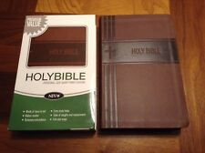 NIV Personal Size Giant Print Bible - Premium Value - Brown Italian Duo Tone