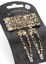 Animal print Hair clip ladies ❤12 piece brown black snap clips accessory 6 cm❤