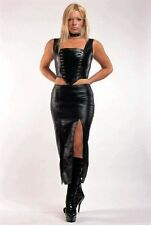 Faux Leather Glamour Zip Basques & Corsets for Women