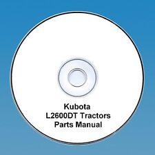 Kubota Tracteur Pièces Manuel L2600DT L2600 DT