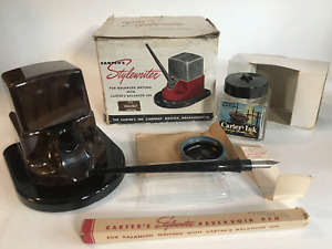Vintage Carter's Stylewriter Ink cube-Well art deco Walnut color VERY RARE!