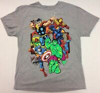 The Avengers Collage - Vintage Style T-Shirt Size XL - Licensed Marvel Comics