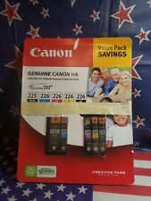 Canon ink refill 5 Cartridges 225 226 Value Pack NEW Sealed ChromaLife 100+