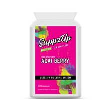 Suppzup Acai Berry Tablets High Strength Natural Energy Boost Weight Loss 1000mg