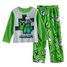 Snow Golems NEW Minecraft Boys Pajamas Size 8-10-12 100/% Cotton Creeper Snowman