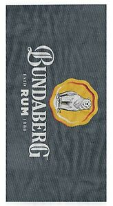 Bundaberg Rum Pinstripe Beach Pool Bath Towel | Gym | Pool | Bath | Man Cave