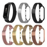 Stainless Steel Watch Band Strap w/ Frame for Xiaomi Mi Band 3 Smart Bracelet