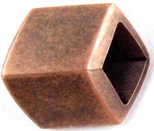 Schalperle - Tuchperle eckig altkupfer 45/35 mm