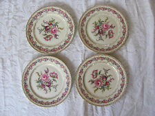 Rosenthal Ivory Vienna Flowers Gold- Set of 4 Luncheon Plates