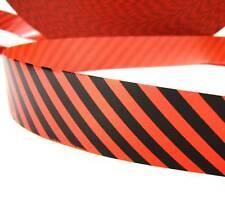 """10 Yds Halloween Orange Black Diagonal Stripe Acetate Satin Ribbon 1 1/4""""W"""