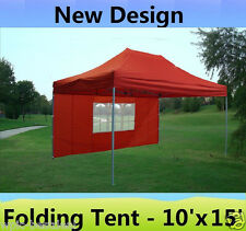10' x 15' Pop Up Canopy Party Tent Gazebo Ez - Red - E Model